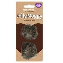 Pack 2 pelotas de pelo jolly moggy para gatos color marrón