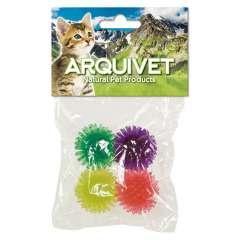 Pack de 4 pelotas erizo para gatos color variado