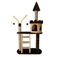Rascador castillo color marrón