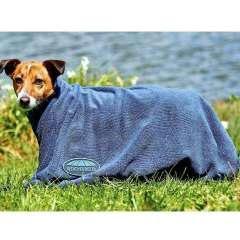 Toalla para perros color azul