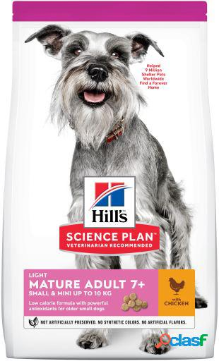 Hill's science plan senior +7 light small & mini pollo 2.5 kg