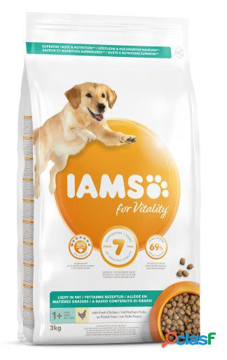 Iams adult light pro active rico en pollo 3 kg