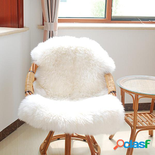 Soft shaggy living room alfombra de piso fluffy chair cover mat sofá cojín