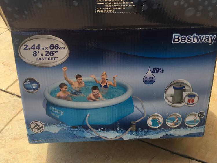 Bomba depuradora con filtro piscina bestway