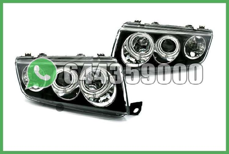 Faros angel eyes negros skoda fabia