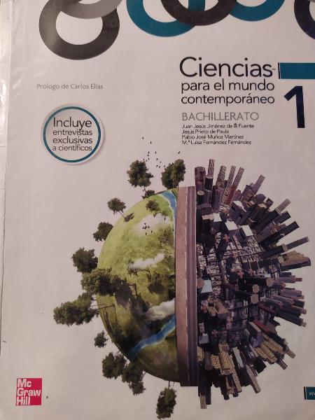Libro ciencias para el mundo contemporáneo 1 bach
