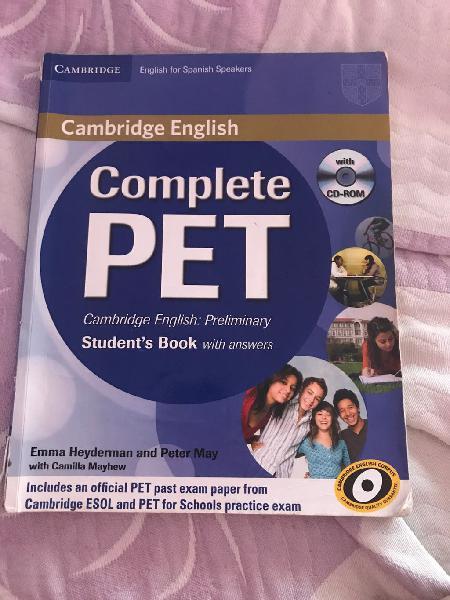 Libro de inglés complete pet