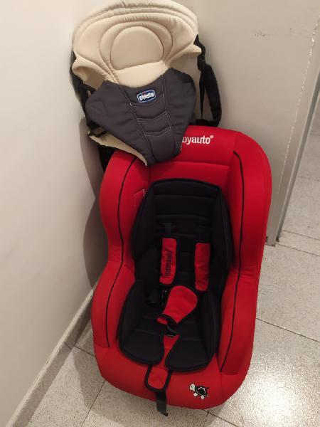 Lote silla de coche bebé más porta bebés