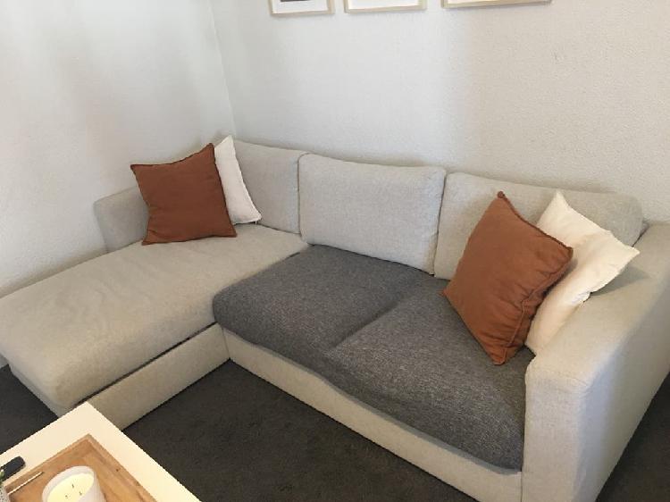 Sofa gris de ikea vimle