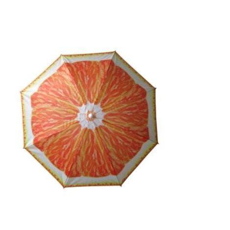 Sombrilla playa 180 cm naranja