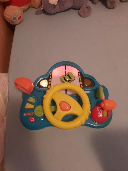 Volante infantil con luces,sonidos y música!