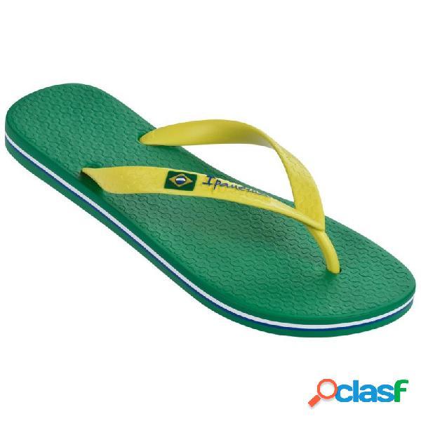 Ipanema clas brasil ii chanclas de dedo planas de mujer verde y amarillo - talla 39/40