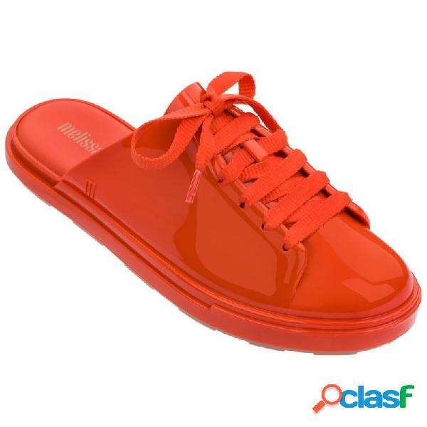 Melissa be babouche sandalias abierto planas de mujer marrón y rojo - talla 37