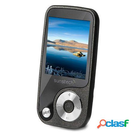 Reproductor mp4 sunstech thorn 8gb titanio - pantalla 4.57cm - fm 20 p