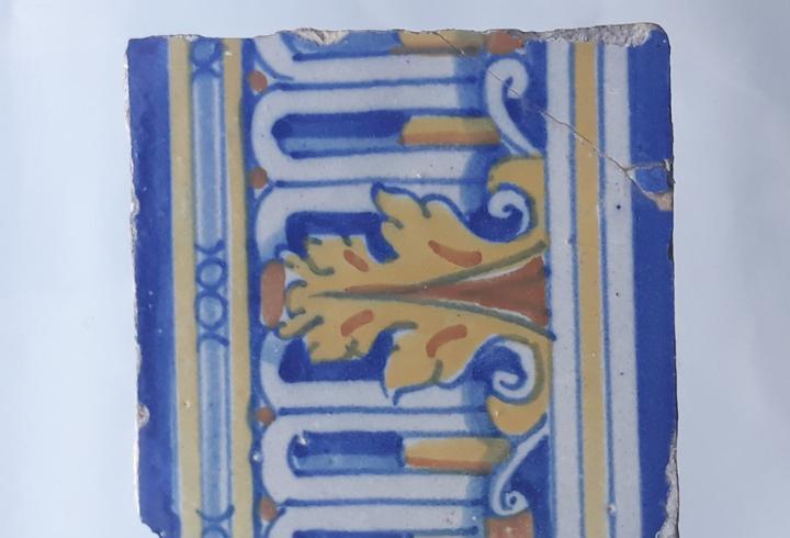 Azulejo antiguo de talavera / toledo - siglo xvii.