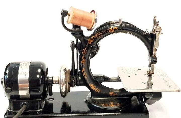 Antigua maquina de coser willcox & gibbs a 110v antique rare