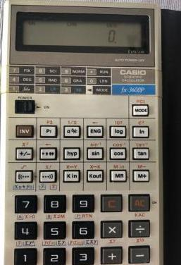 CALCULADORA CASIO FX-3600P SCIENTIFIC