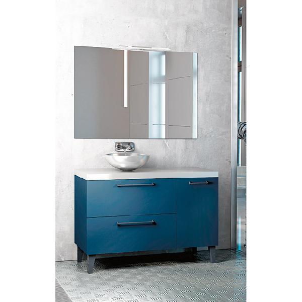 Conjunto de mueble de baño caspio azul