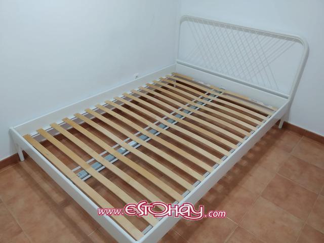 Estructura cama nesttun ikea, blanco, 140x200 cm