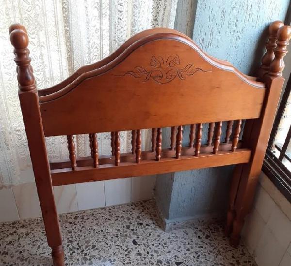 Lote de dos cabezales vintage para cama individual madera