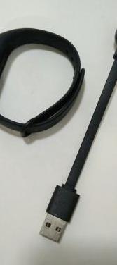 Pulsera negra y cable de carga xiaomi mi band 2.
