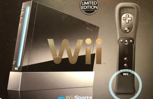 Wii negra edición limitada con regalo extra