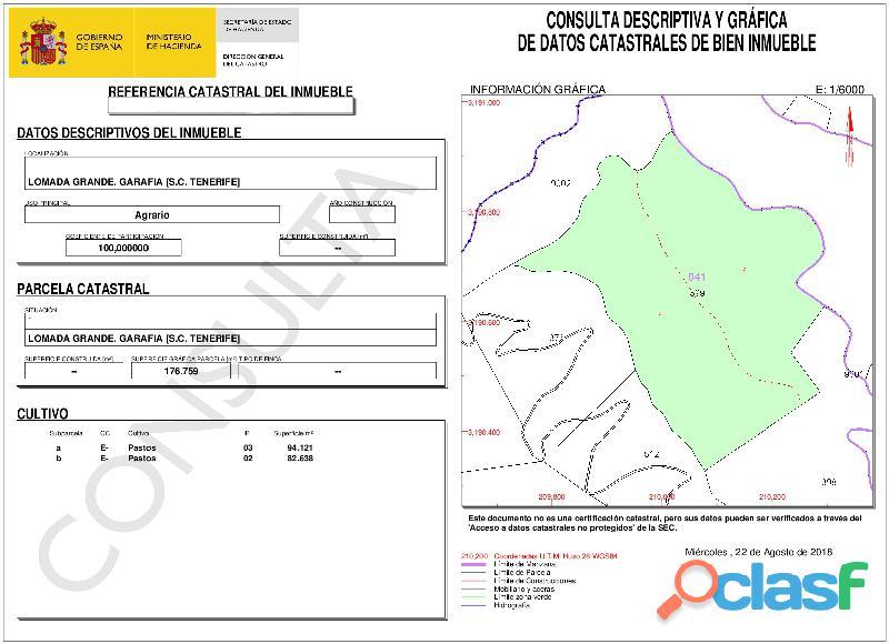 ID 424 Gran terreno en la zona noroeste de la isla de la Palma, en Lomada Grande Garafia, con una m 9