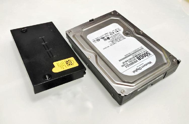 Adaptador y disco duro playstation 2