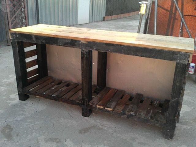 Banco de trabajo taller en madera