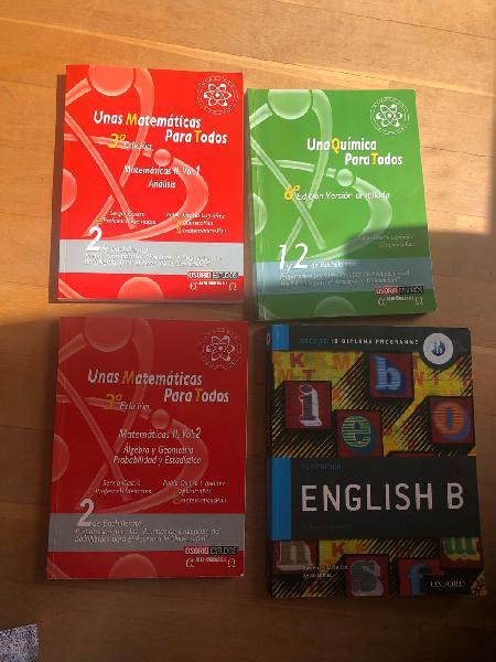 Clases de matemáticas, química e inglés