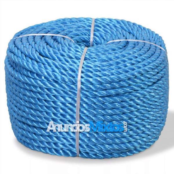 Cuerda trenzada de polipropileno 12 mm 100 m azul