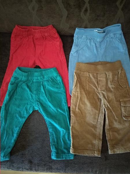 Lote 4 pantalones niño 6/12 meses