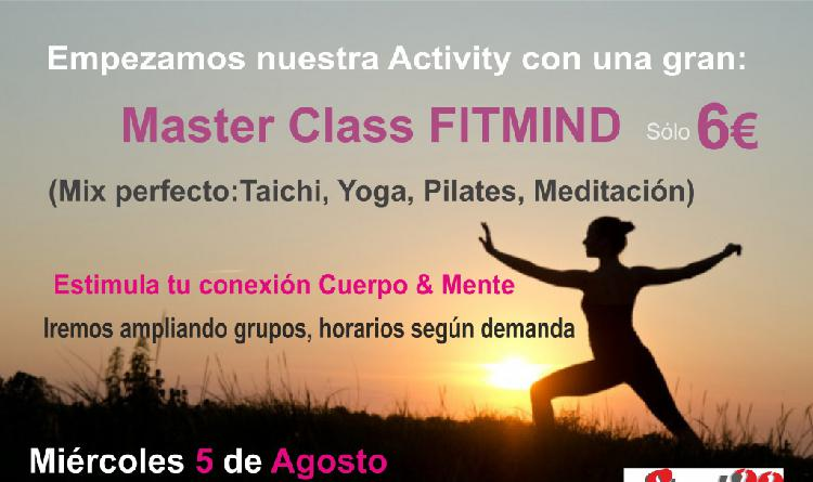 Master class fitmind en fuengirola a 6 miércoles 5agosto a