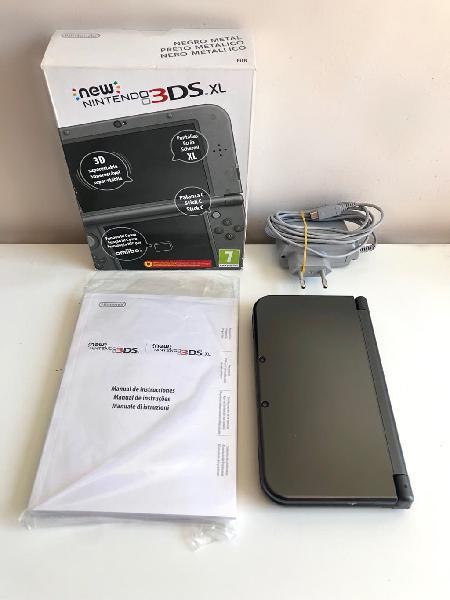 Nintendo new 3ds xl edición negra completa en caja