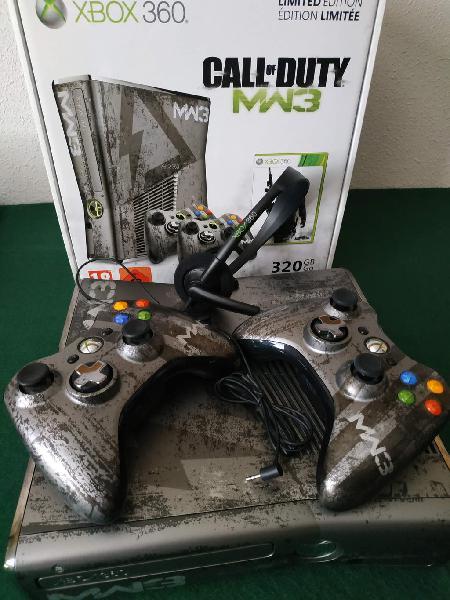 Xbox 360 edición limitada cod + 2 mandos + kinect