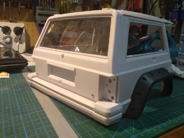 Parte trasera carroceria jeep rc crawler