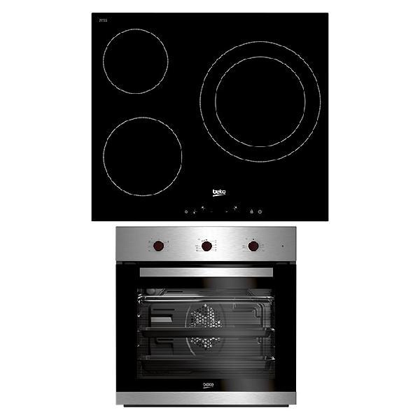 Beko set de horno empotrado bie22101x+hic63401