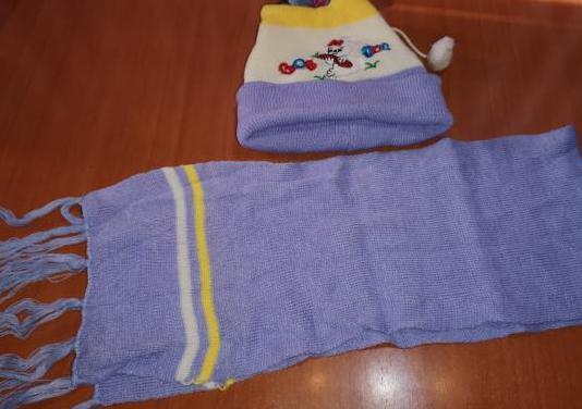 Conjunto gorro bufanda de bebe 1/3 años