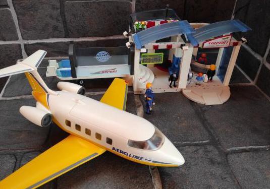 Juguetes playmobil aeropuerto avion