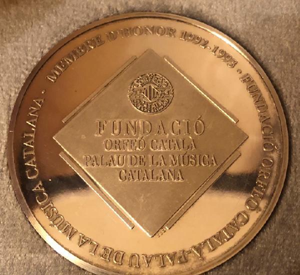 Maravillosa medalla de plata pura, del palau de la musica