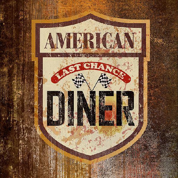 Protector de pared de cocina comida americana