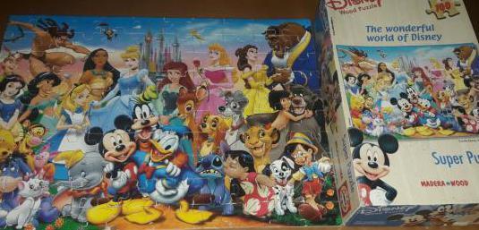 Puzzle madera personajes disney 100 piezas