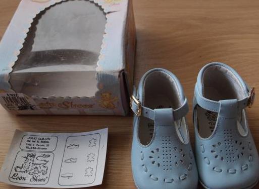 Zapatos piel talla 17 león shoes