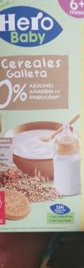 Cereales sin usar hero baby galleta