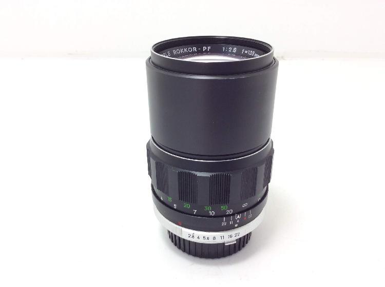 Objetivo minolta 1:â¨2.8 f=135mm