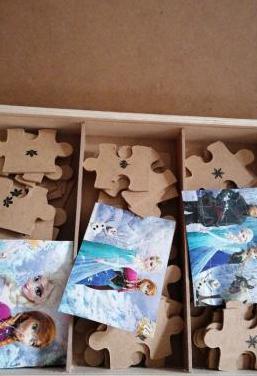 Puzzle madera frozen y regalo