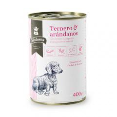 Comida húmeda para perros senior criadores de ternera con