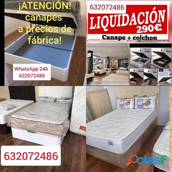 PACK COLCHON Y CANAPE A ESTRENAR LIQUIDACIÓN