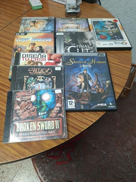8 juegos pc y programa de diseño 3d.