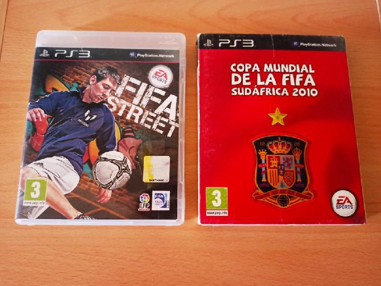 Fifa street + fifa mundial sudáfrica ps3